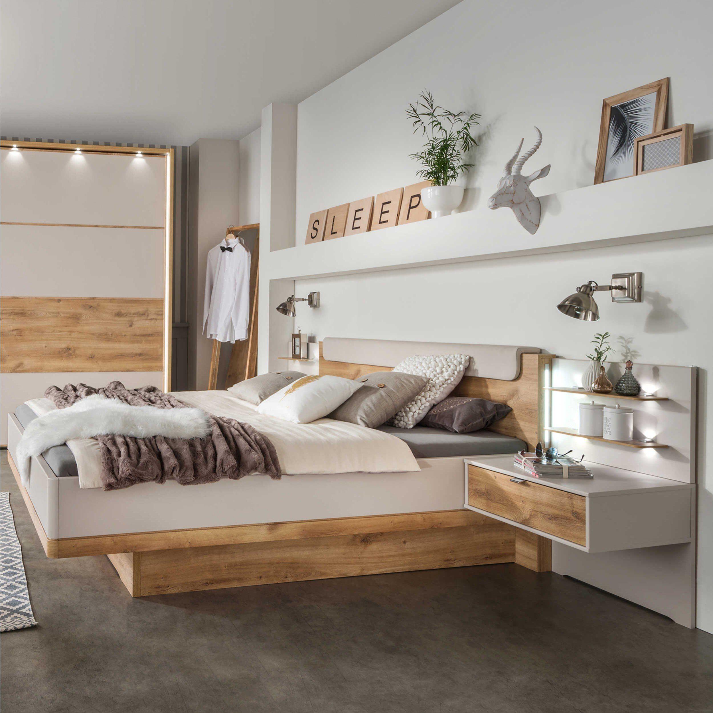 Wiemann Bett mit Nachttischen Toscana 180 x 200 cm