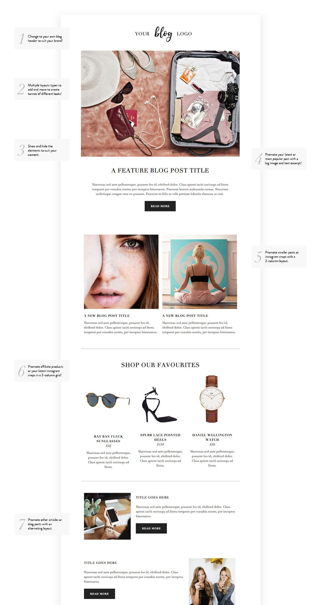 looking for the perfect mailchimp email template for your blog our