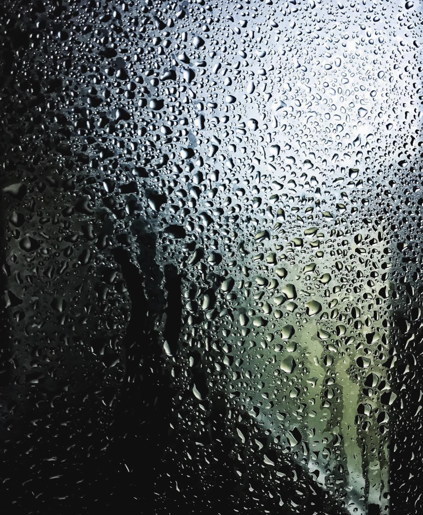 Water Droplets On Glass Abstract Artwork Water Droplets Abstract