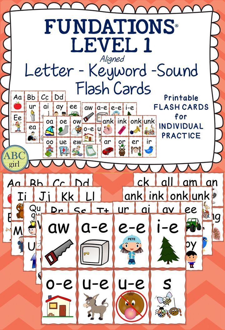 Fundations Level 1 Flash Cards A great way to reinforce Fundations