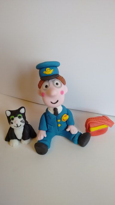 c6371fa144f0 Postman Pat cake topper set, handmade, edible by caketoppersbymaris ...