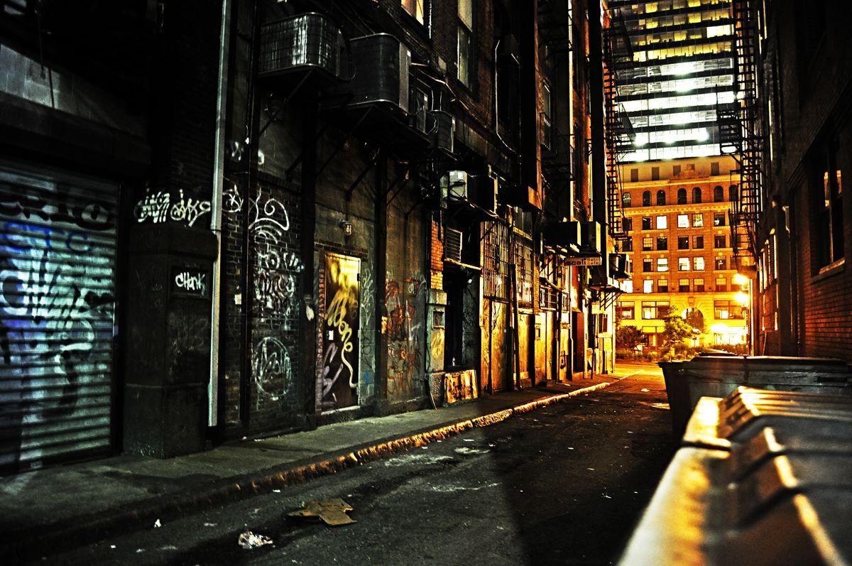 Dark Alley By Andrew 23 On Deviantart Night City Dark City Alley