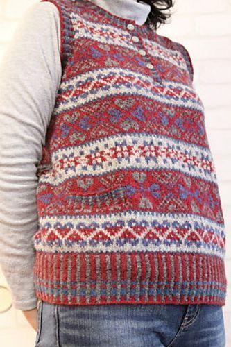 Ravelry: chacha-stitch's Fair Isle vest | knitting | Pinterest ...