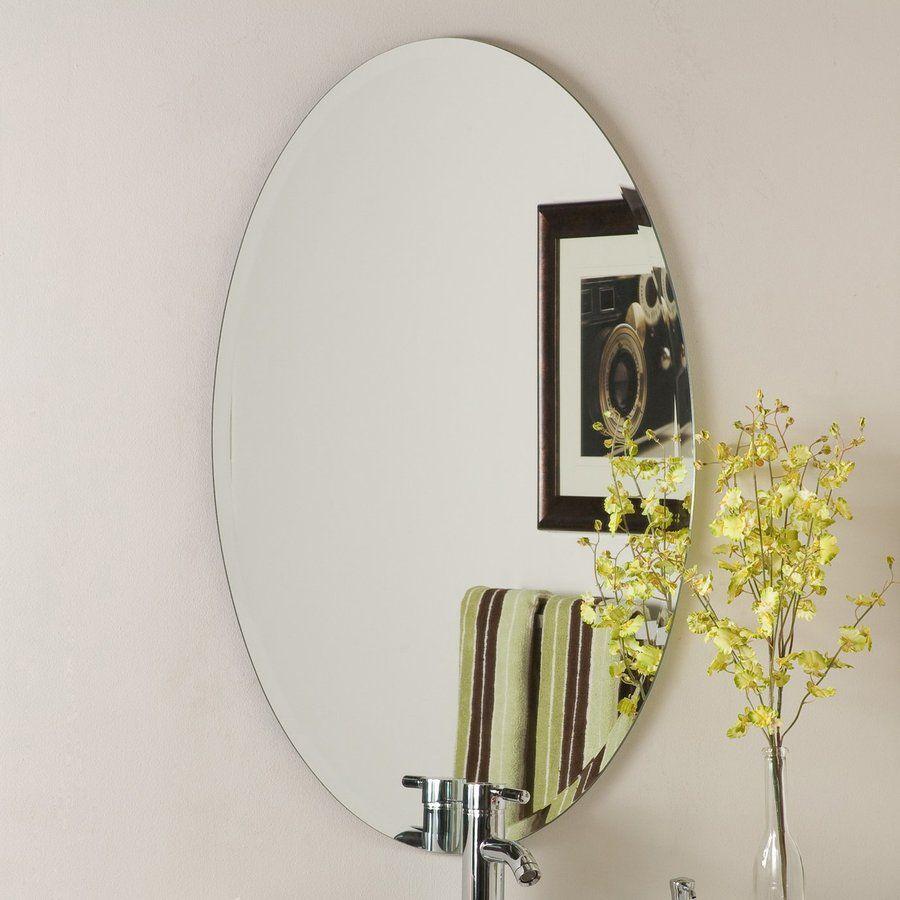 Decor Wonderland Helmer 24 In X 36 Oval Frameless Bathroom Mirror