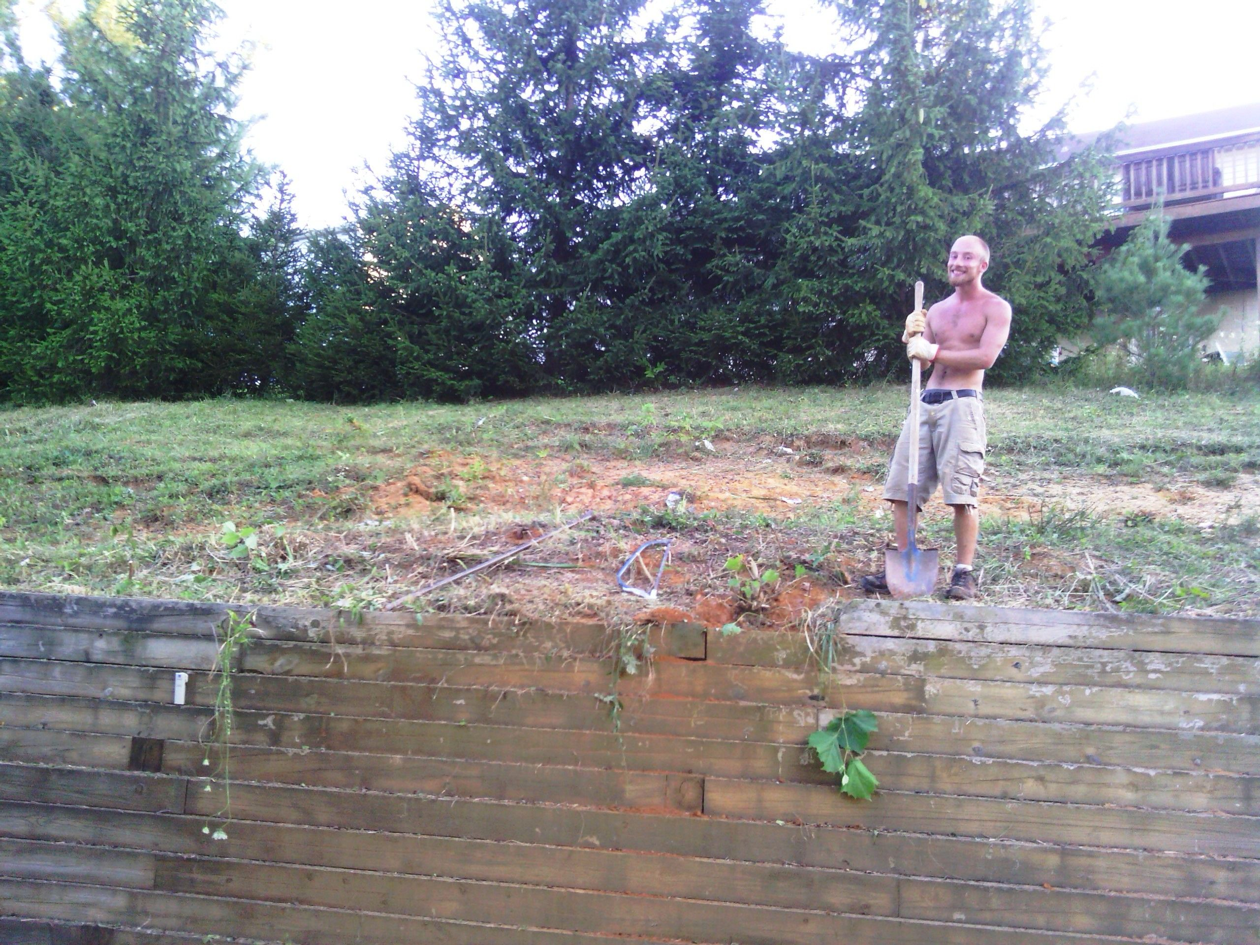 Just Finished An 8 Hour Yard Clean Up Removing High Weeds And Small Trees That Were