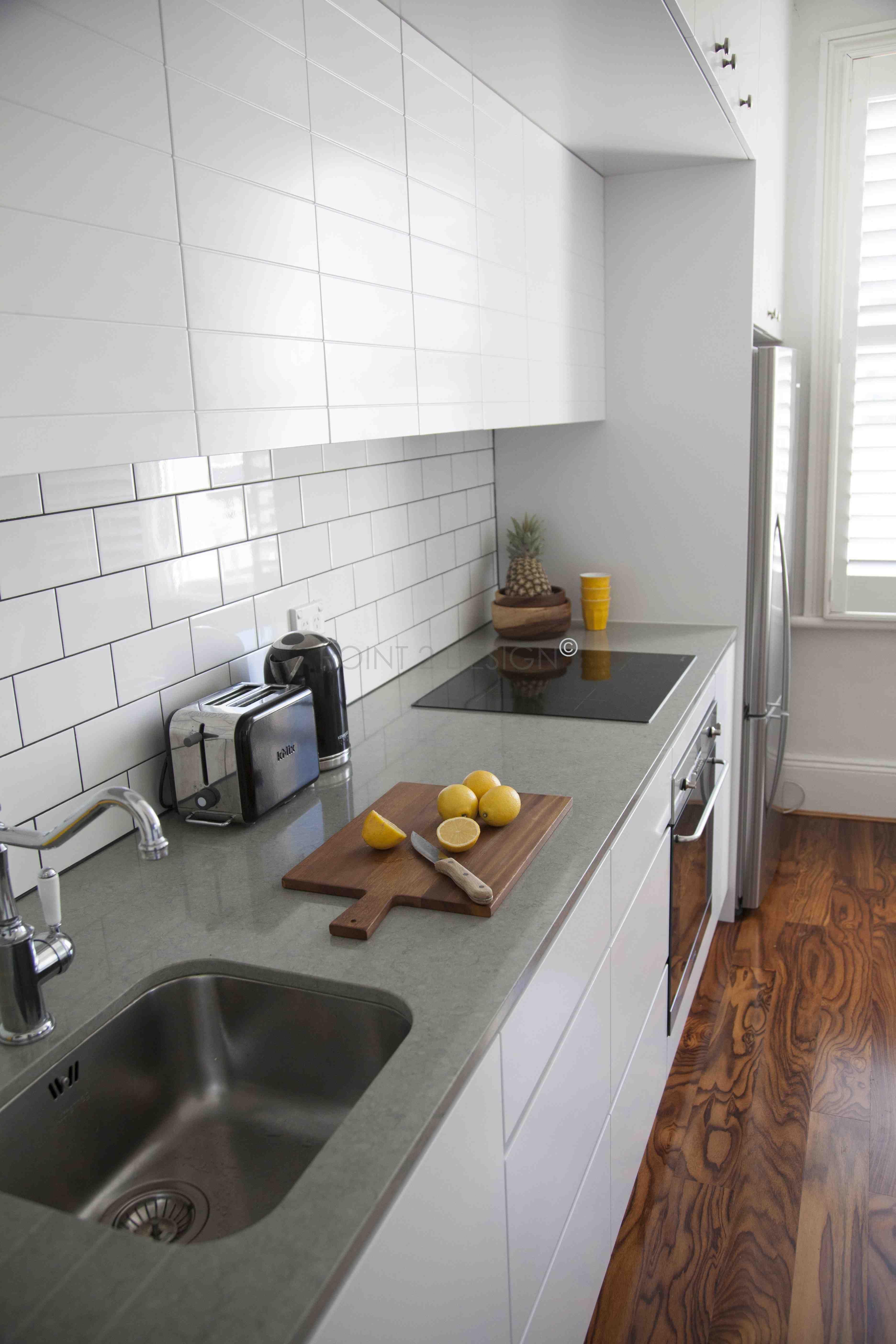 summerhill apartment kitchen detail subwaytile customkitchen joinery stonebenchtops