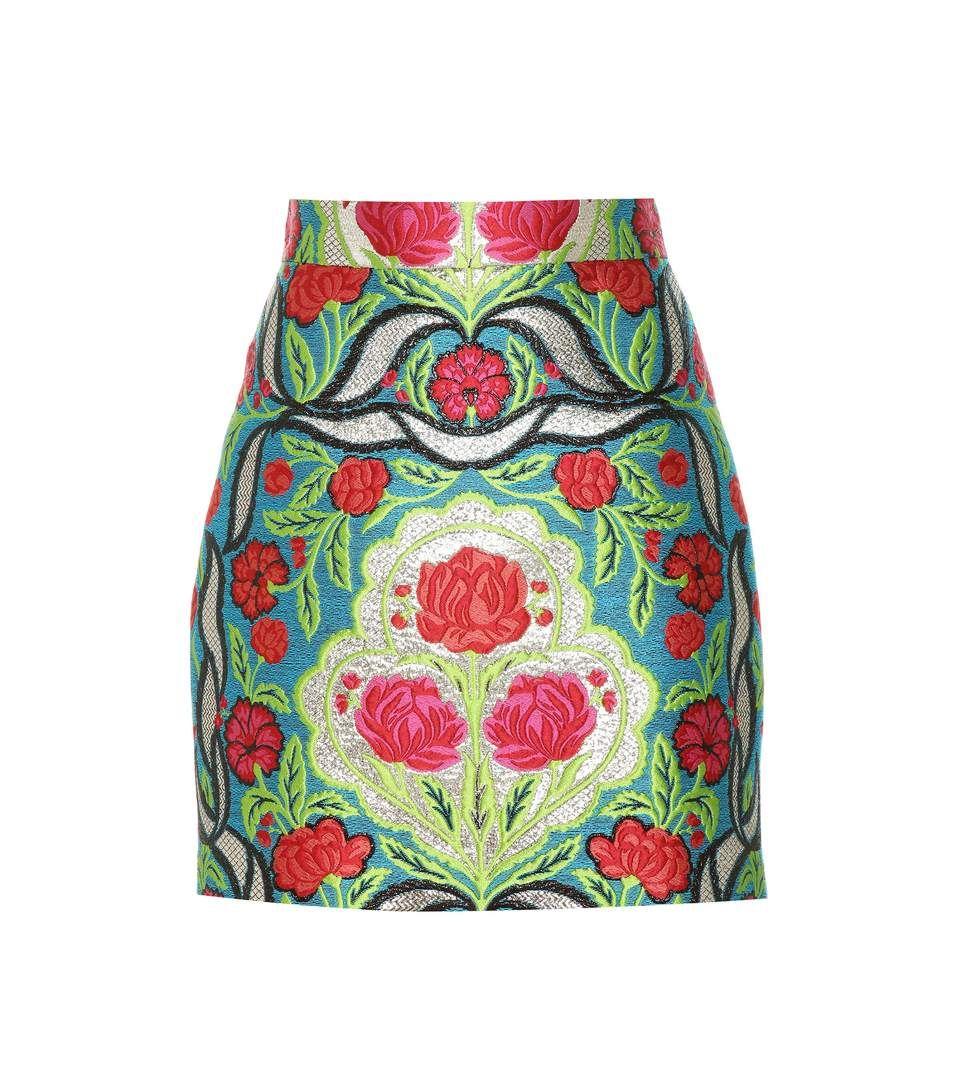 Multicolour brocade skirt gucci pinterest metallic thread