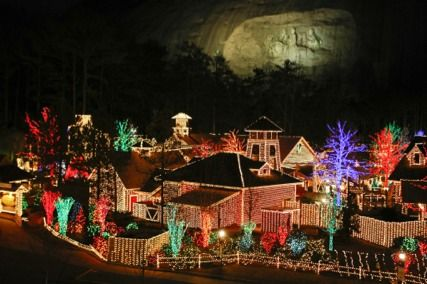 Christmas Lights Stone Mountain Ga Stone Mountain Christmas