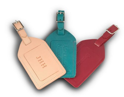 Monogrammed Leather Luggage Tag | Wedding Registry | Pinterest ...