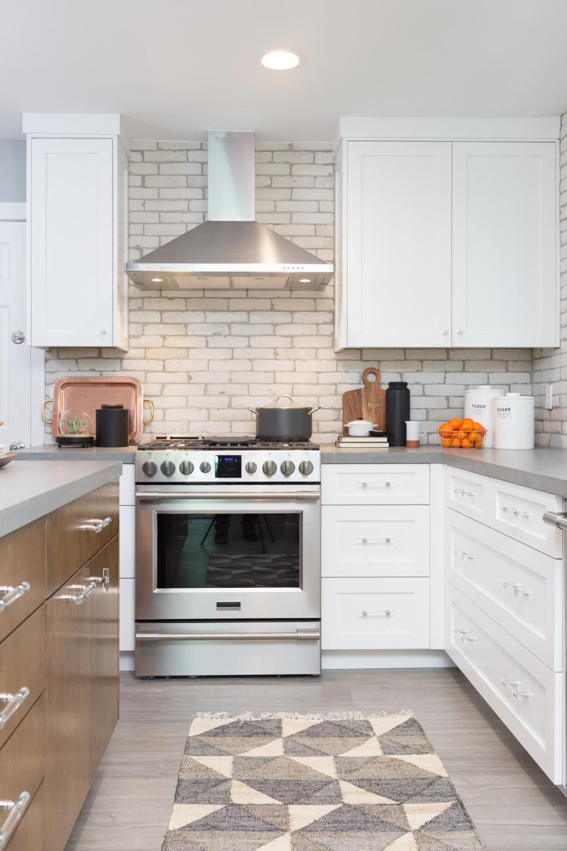 - Modern White Kitchen With White Brick Backsplash House Ideas