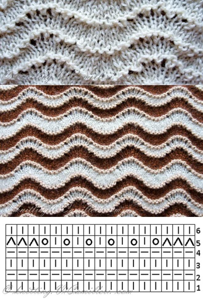 миксуются нестандартными схемы вязания зигзагом спицами фото часть времени посвящает