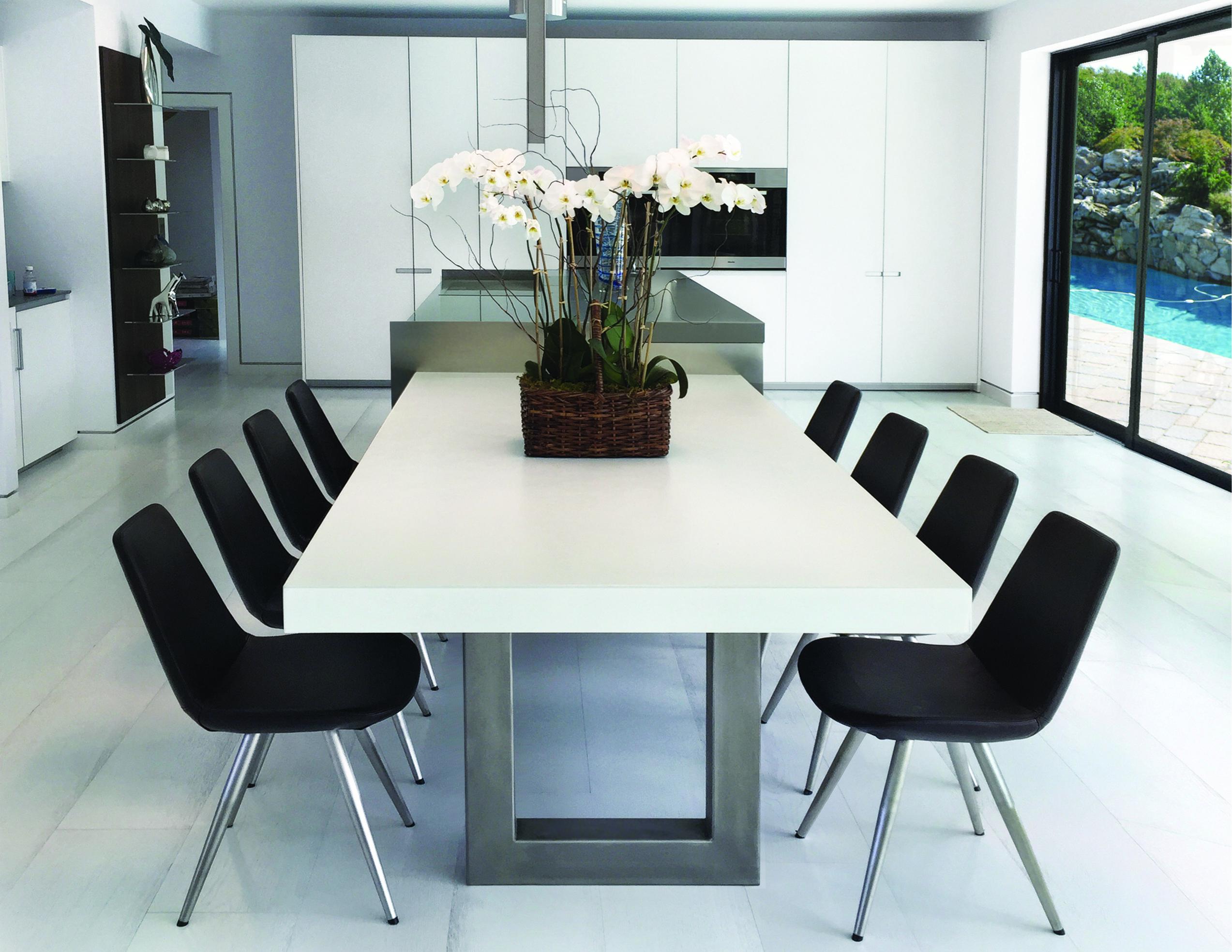 Zen Concrete Dining Table Concrete Dining Table Dining Room
