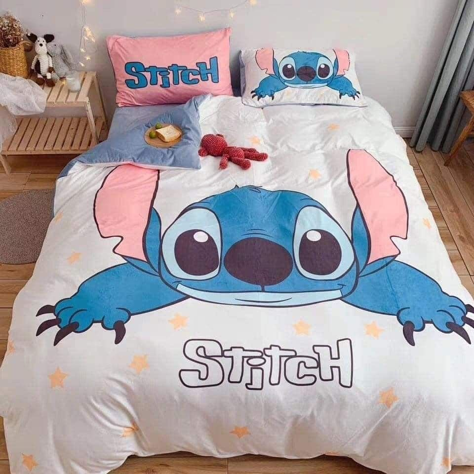 Lilo Stitch Blue Pink Tropical Flowers Kids Bed In A Bag Bedding Set W Reversible Comforter Walmart Com Lilo And Stitch Bedding Set Stitch Clothes