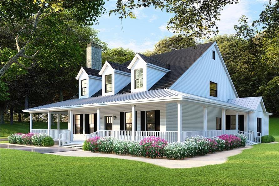Home plan rendering of this 4bedroom2173 sq ft plan 153