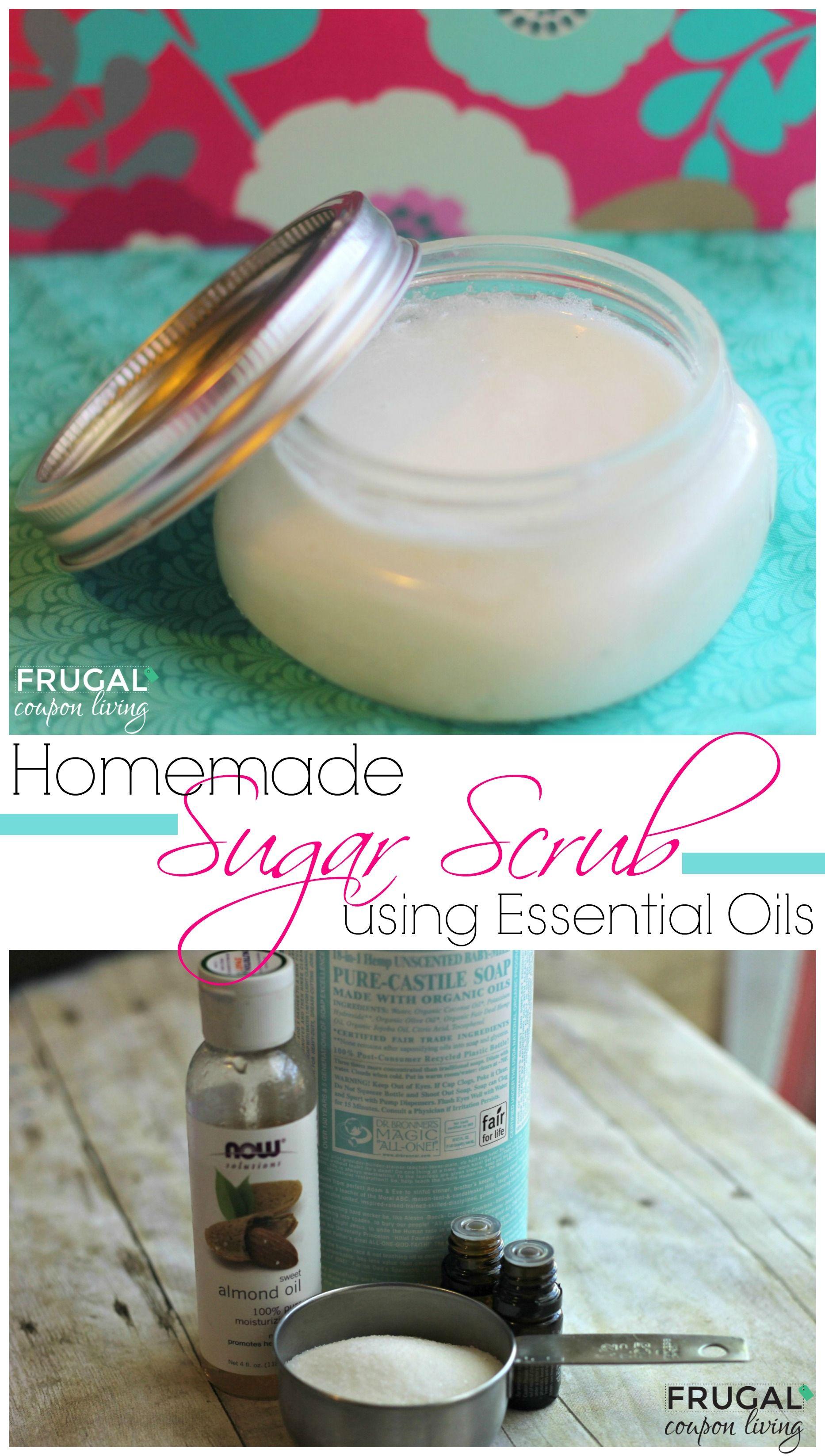 Homemade Sugar Scrub with Essential Oils Sugar scrub