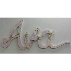 Baby Girl's name in roses | Letter wall, Baby decor, Lettering