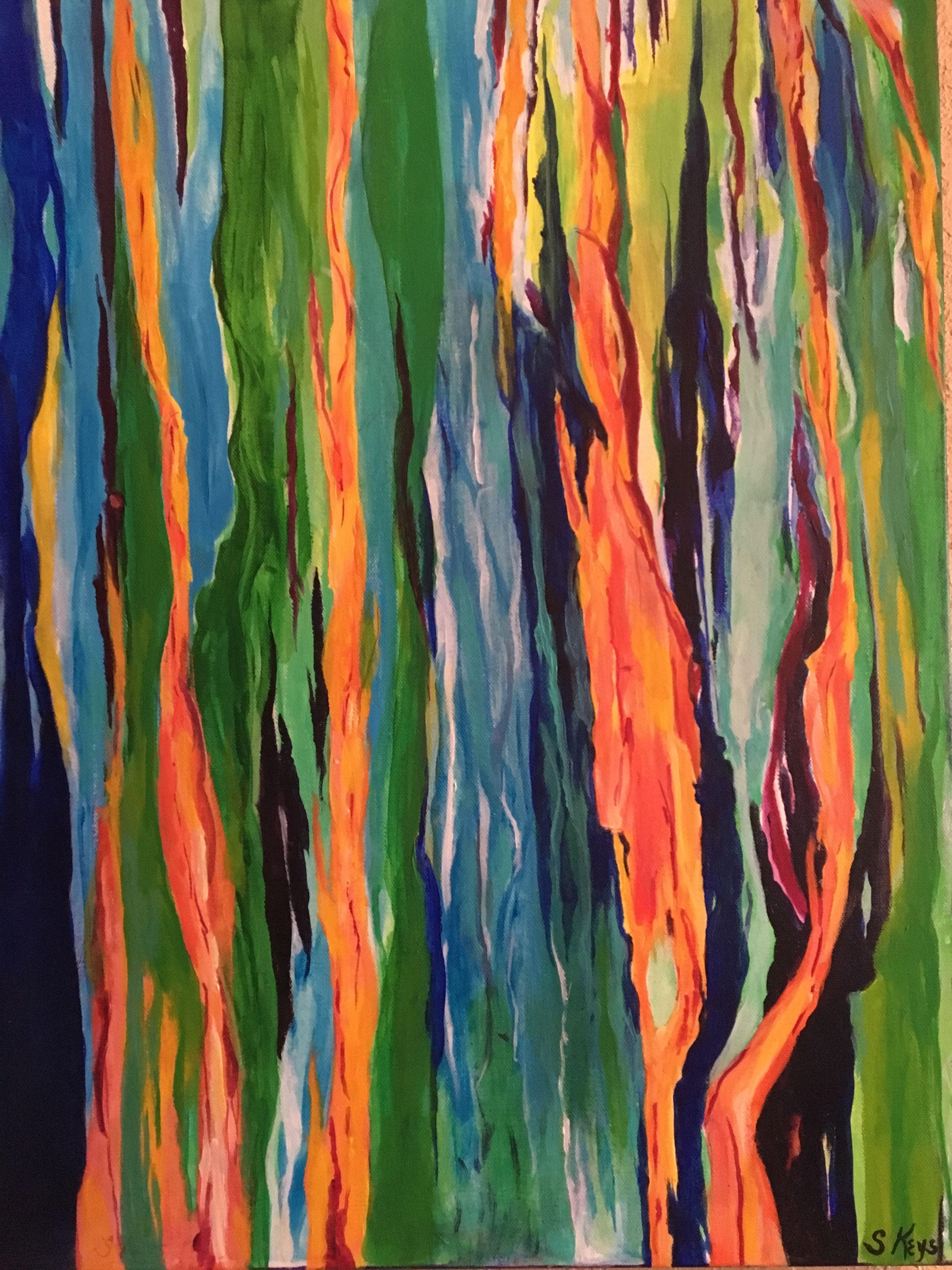 Rainbow Eucalyptus Acrylic on canvas Sharon Keys' Art