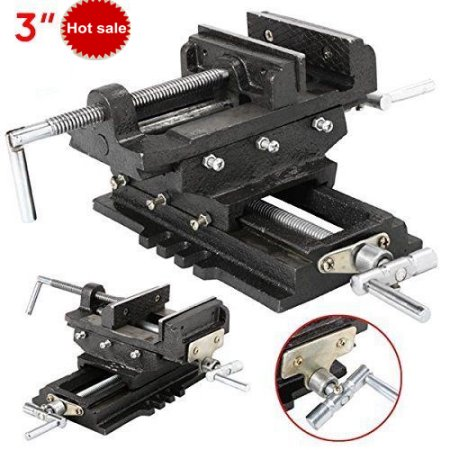 "3/"" Cross Slide Vise Drill Press Heavy Duty Metal Milling 2 Way X-Y Clamp Machine"