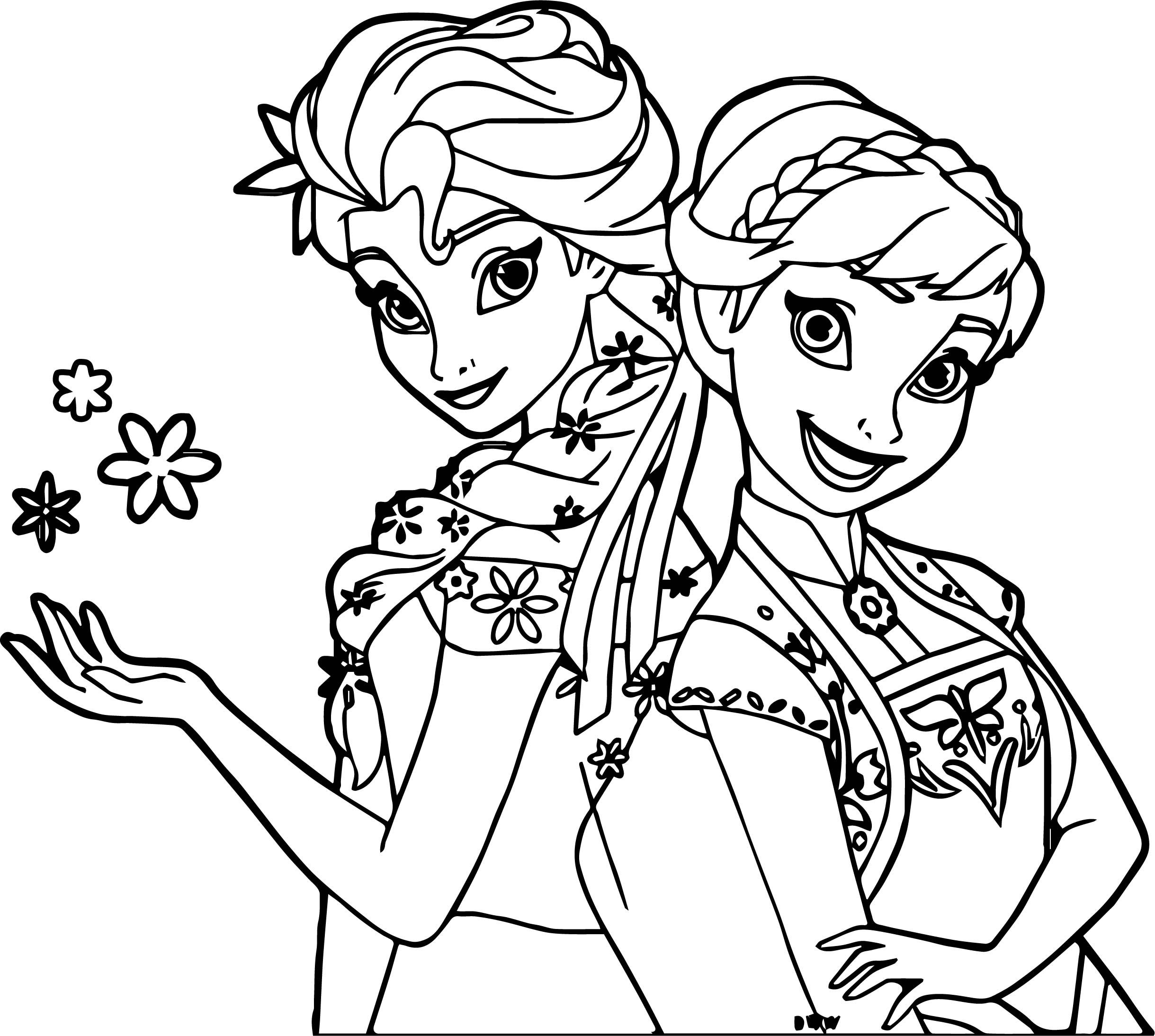 nice Frozen Fever And Anna Snow Coloring Page | wecoloringpage ...