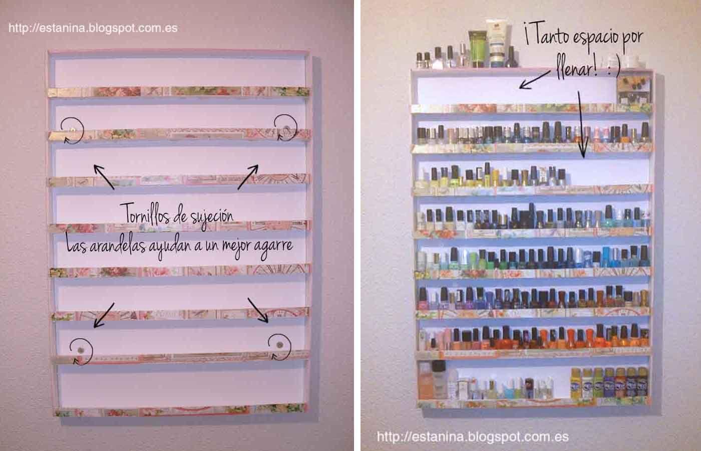 Estanina\'s Stand: Cómo hacer una estantería para nuestros esmaltes ...