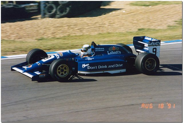Paul Stewart - Lola T91/50 Mugen/Zytek - Paul Stewart Racing F3000 - Brands Hatch Formula 3000 Trophy - 1991 International F3000 Championship, round 7 - © Antsphoto