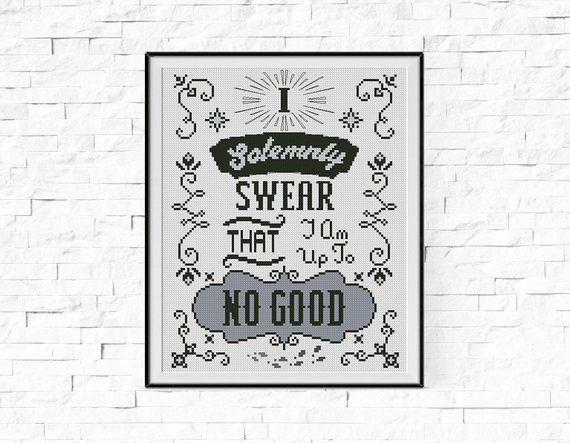 BOGO FREE! Solemnly Swear Cross Stitch Pattern, Harry Potter