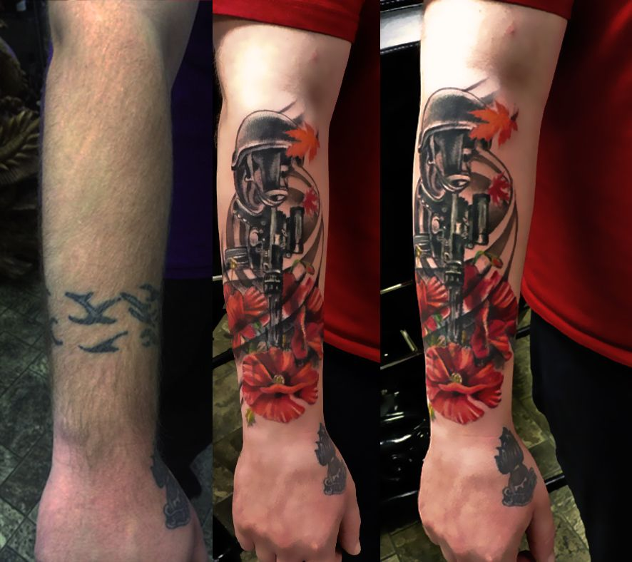 Cover Up Tattoo Designs together with Arm Tattoo Cover Up Ideas ...