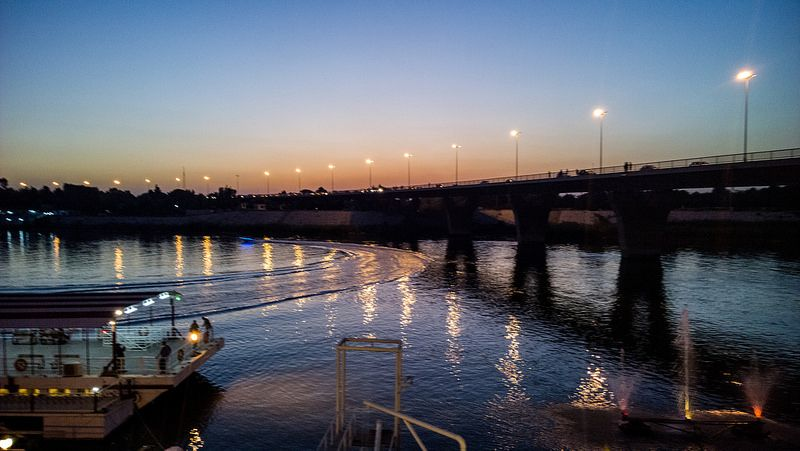Tigris River Bridge Jadiriya Baghdad Iraq Photography Rasoul Ali نهر دجلة جسر الجادرية العراق بغداد تصوير رسول علي Baghdad Scenery Iraq