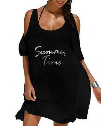 4718857b150f3 Summer time cold shoulder tops for women white t shirt dress