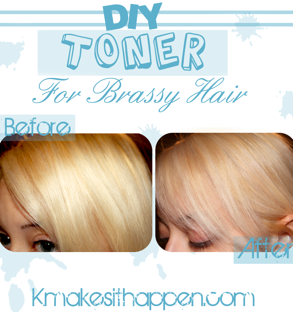 Need A Toner For Yellow Or Brassy Hair Why Not Try Out My Diy Toner