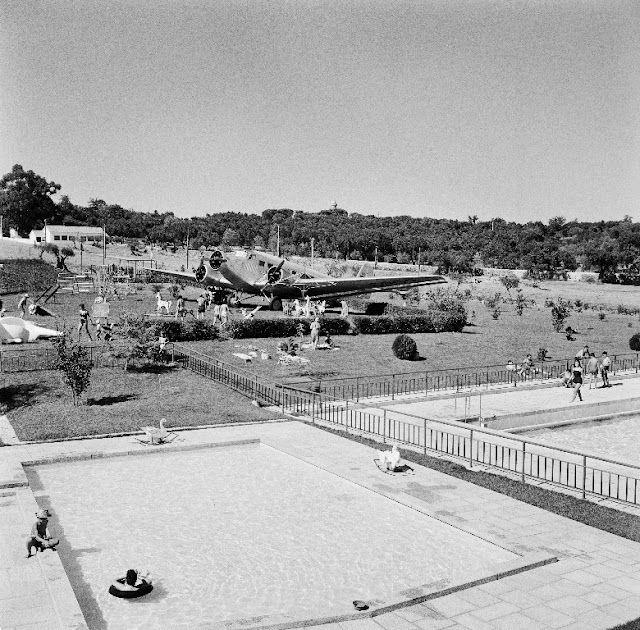 Vista parcial das Piscinas Municipais de Évora