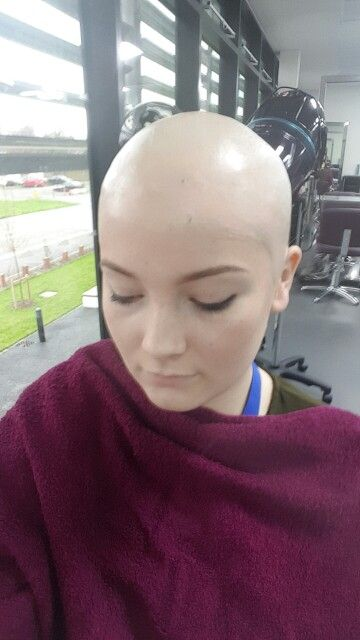 Bald Cap Application By My Friend Alex Who Studies Special Effects Makeup Up At College Bald Girl Bald Cap Bald Head Girl