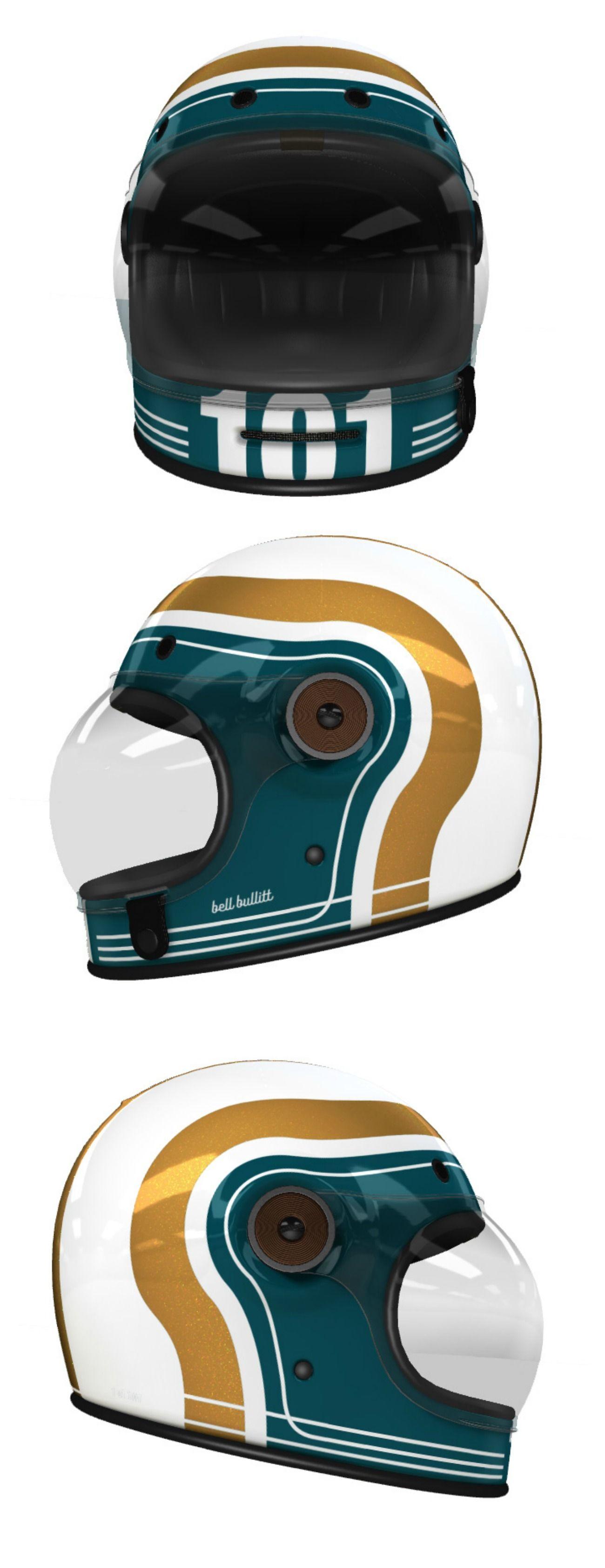 Custom Bell Bullitt Motorcycle Helmet Design At Helmade Motorcycle Helmet Design Vintage Helmet Retro Helmet