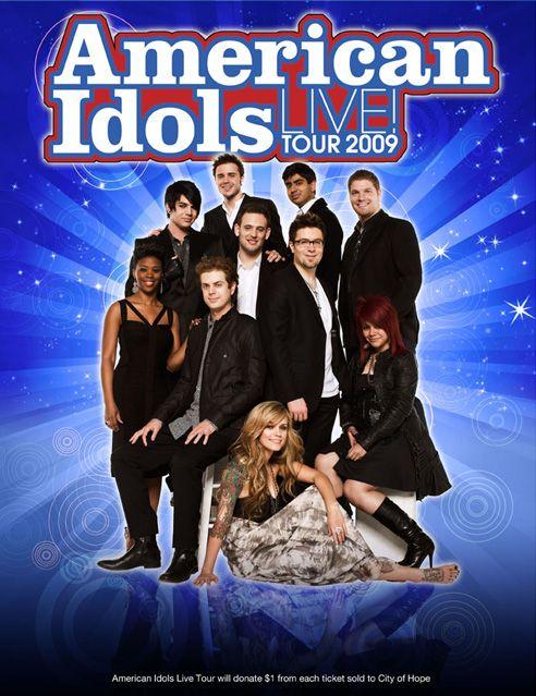 American Idol Season 8 Tour Poster American Idol Idol Tv