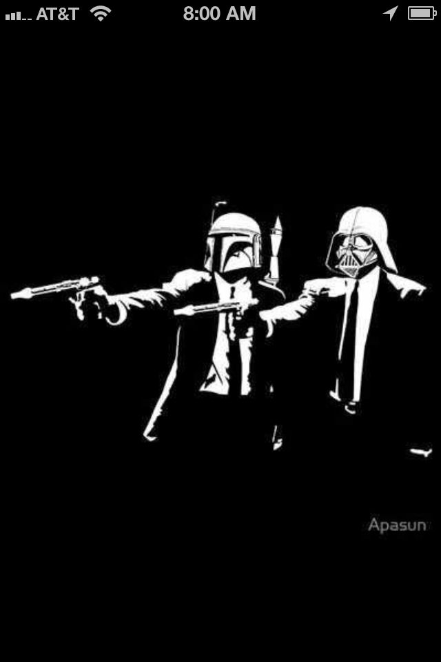 Pulp Fiction Meets Star Wars What Else Could Be Better John Travolta And Samuel L Jackson Become Darth Vader An Star Wars Parody Star Wars Wallpaper Star Wars