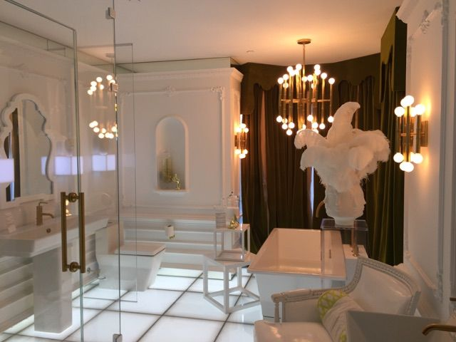 All White Bath Design Kohler Design Center Check Out The Lighted Floor Bathroom Design Luxury Bathroom Bath Design