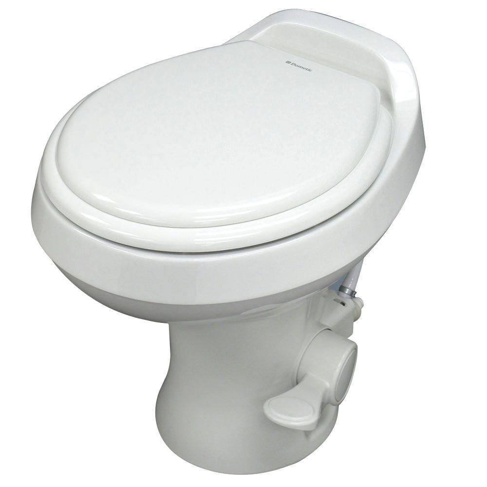 Dometic high profile 300 gravity flush toilet white