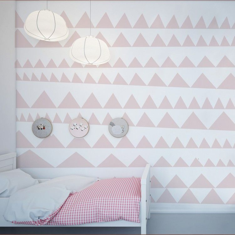 Dreieck Muster In Rosa Auf Weißem Hintergrund