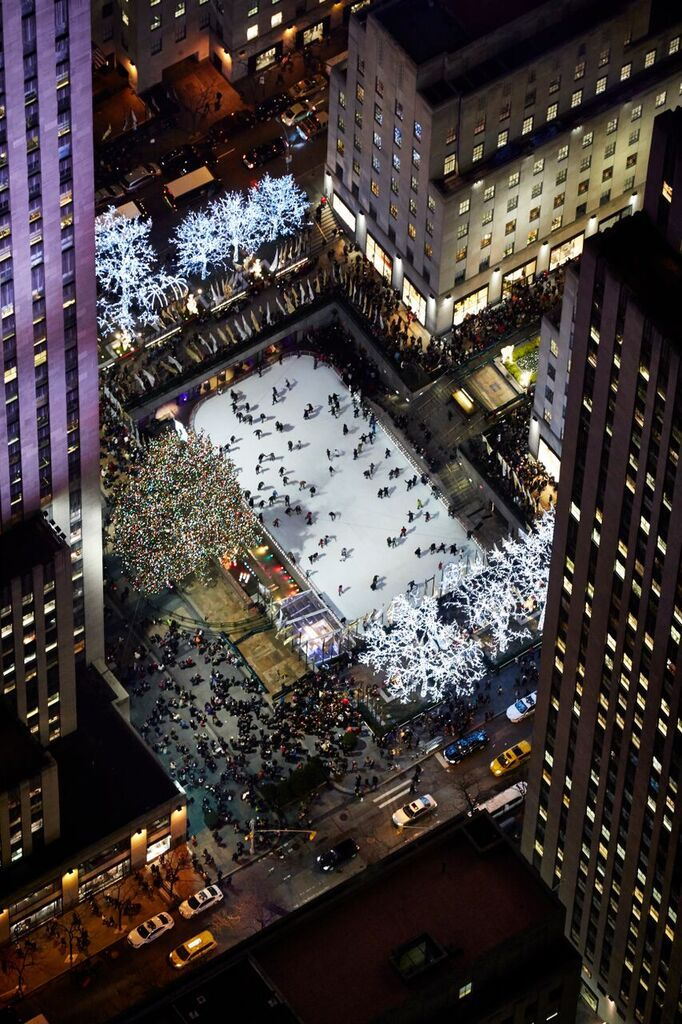 Rockefeller Tree Lighting over NYC New York City Focus