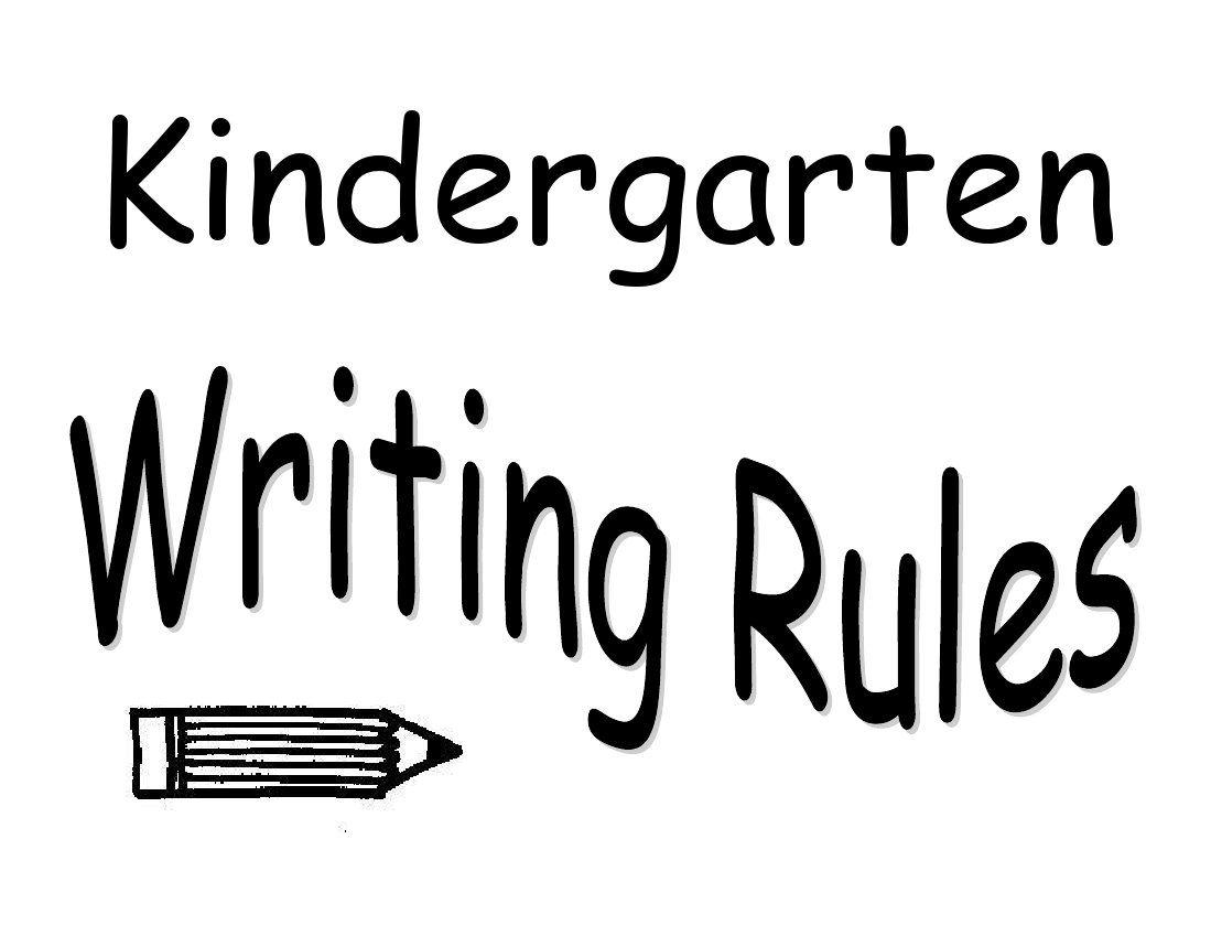 Prima Kindergarten Writing Rules