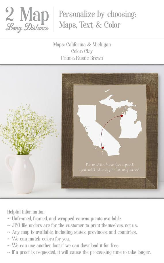 Long Distance Family Going Away Gift For Daughter Aunt Wedding Gift