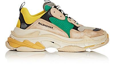 Balenciaga Men's Triple S Sneakers  Gray is part of Sneakers fashion - Multi  Imported  Balenciaga Men's Triple S Sneakers  Gray Size 11 M A great designer gift  Shop Balenciaga at Barneys New York ;Suede