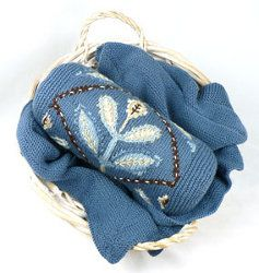 Embroidered Flower Neckroll Pillow