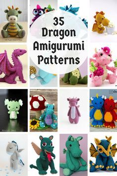 Dragon Amigurumi Patterns #crochetdinosaurpatterns