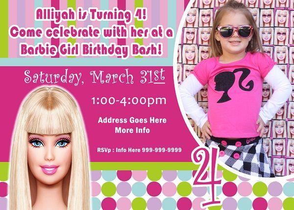 Free Barbie Birthday Invitations Ideas FREE Printable Invitation - Free barbie birthday invitation layout
