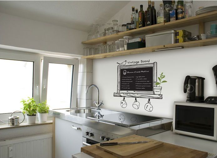 Tight on space? Go vertical with open shelving....great idea!!