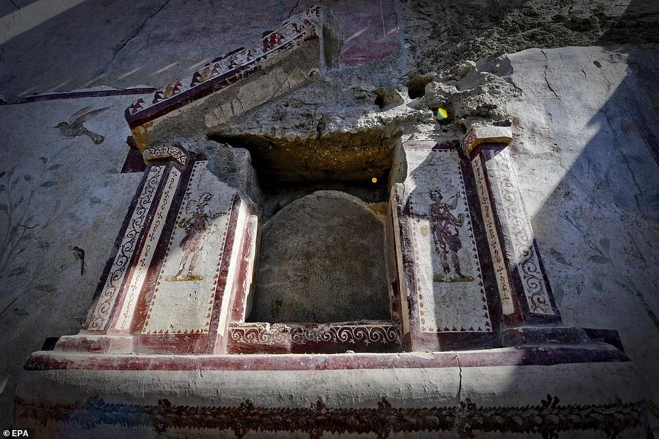 Ancient Shrine Hidden Under Ash For 2 000 Years Is Found In