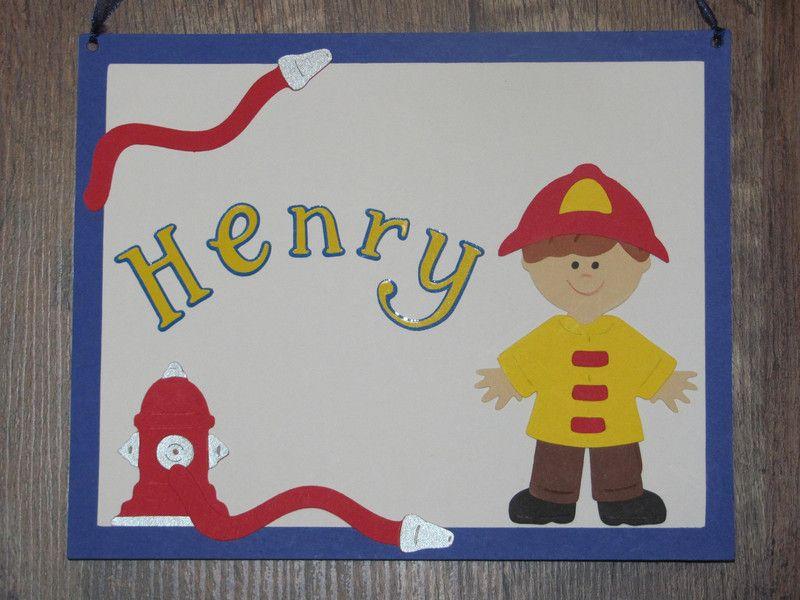 Turschilder Kinderzimmer Turschild Feuerwehr Name Ein