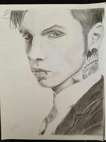 Andy Biersack Drawing Art Fan Art Amazing Drawings