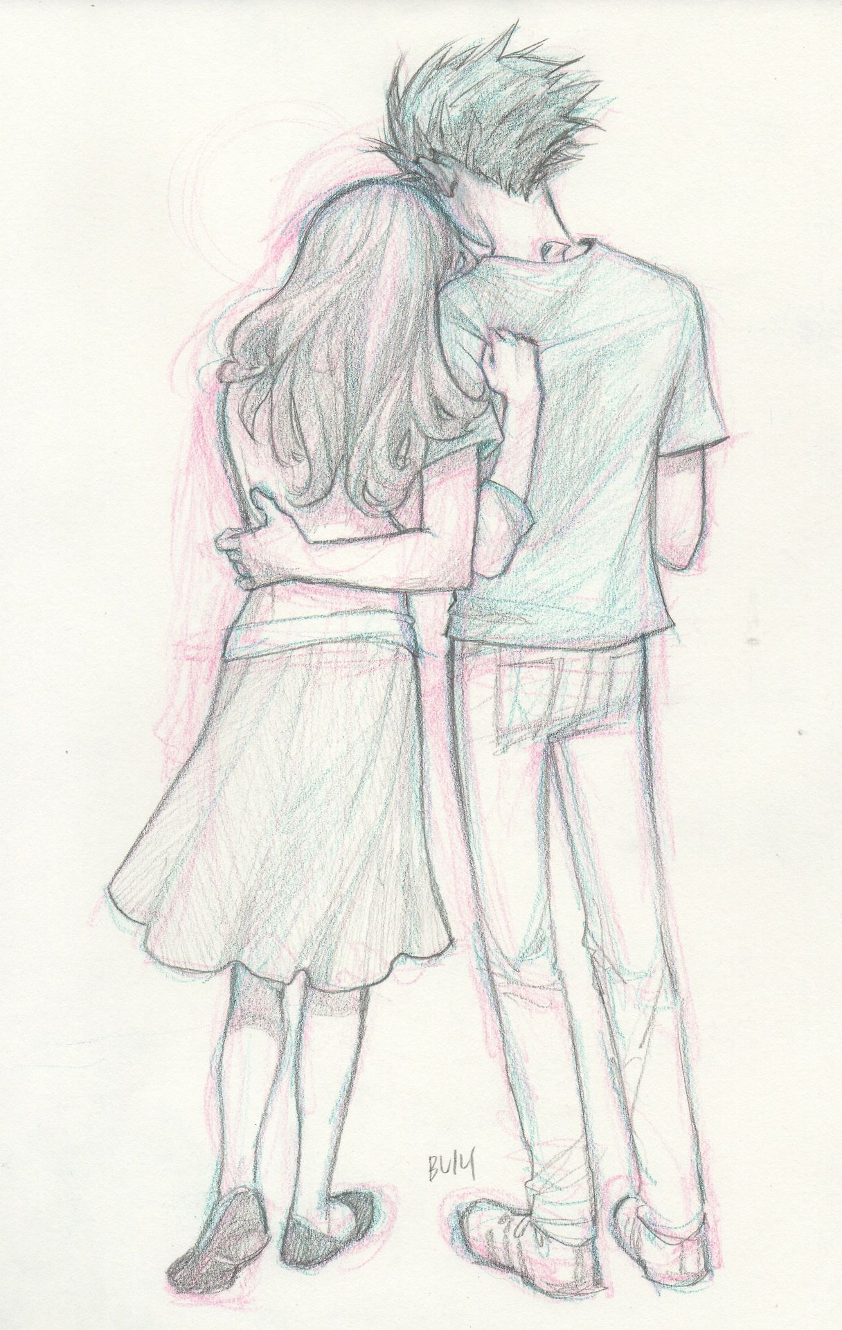 the afterlife Cute couple drawings, Cute drawings, Art